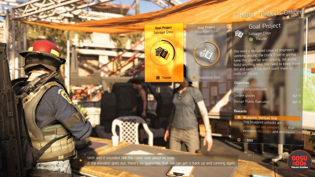 The Division 2 - Projects Guide - Division 2 tracker